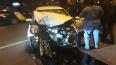 На Уральской улице иномарка врезалась в столб, водитель ...