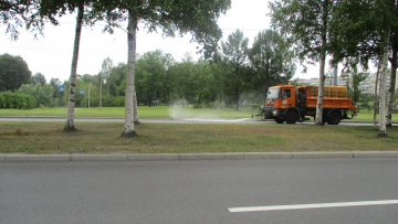 За неделю дорожники использовали почти 40 тысяч кубометров воды