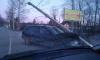 Автомобиль влетел в столб на Дороге Жизни
