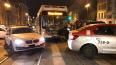 """На Лиговском """"Мерседес"""" и автобус застряли на трамвайных ..."""
