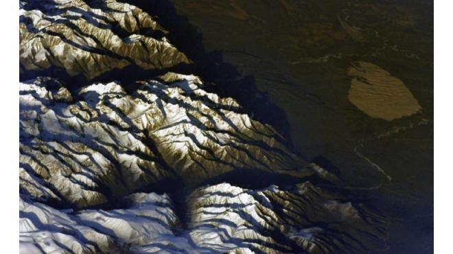 Петербургский космонавт заснял гору Куштау с борта МКС