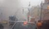 Движение на улице Маяковского встало из-за вспыхнувшей Audi