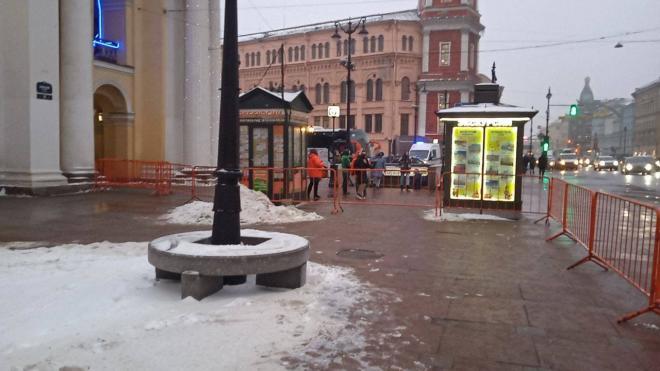 В Петербурге начали выставили ограждения у места проведения митинга за Навального