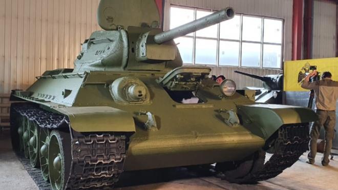 Во Всеволожске восстановлен уникальный танк времен Великой Отечественной войны