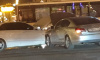 Две легковушки столкнулись посреди Невского проспекта