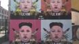В Петербурге появился розовый Ким Чен Ын