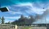Очевидцы засняли на видео черный дым в районе Сестрорецка