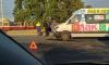 Lada Granta перевернулась после столкновения с маршруткой на Корабельной улице