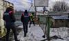 На юге Петербурга принудительно демонтировалинезаконные бытовки и павильоны