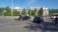 Два автомобиля столкнулись на перекрестке Ленсовета ...