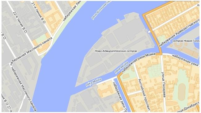 Смольный отменил утверждение планировки территории Ново-Адмиралтейского острова