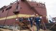 Петербуржцев напугал дым над строящейся плавучей атомной...