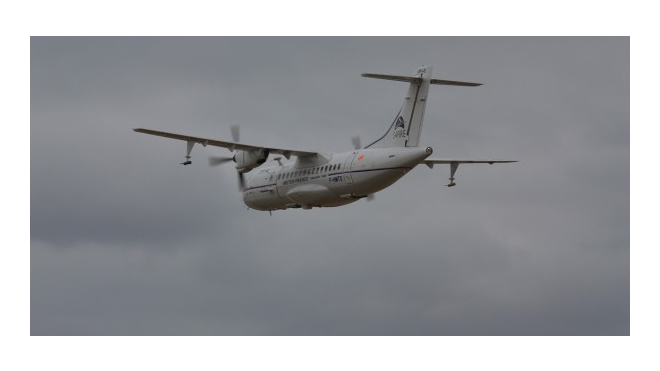В аэропорту Праги взорвался самолет ATR-42