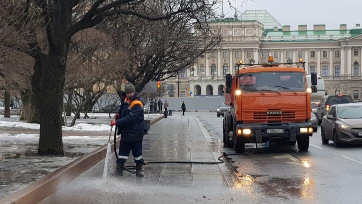 Смольный спросит у петербуржцев, нужно ли использовать реагенты зимой