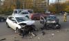 В Петербурге в лобовом ДТП серьезно пострадал 10-летний мальчик