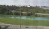Река Охта окрасилась в мутно-малахитовый цвет