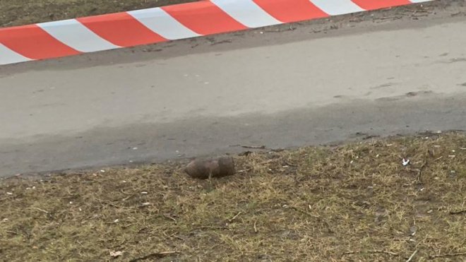 В Пушкине на Кузьминском кладбище нашли снаряд времен войны