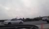 На КАДе три машины столкнулись паровозиком
