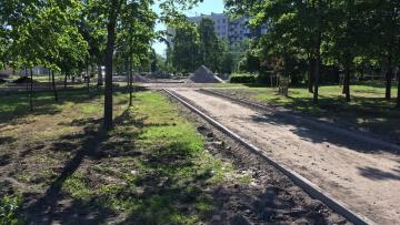 На проспекте Ветеранов спецслужбы начали благоустройство сквера