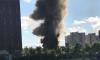 Огромный столб дыма в Колпино появился из-за пожара на складе у гипермаркета
