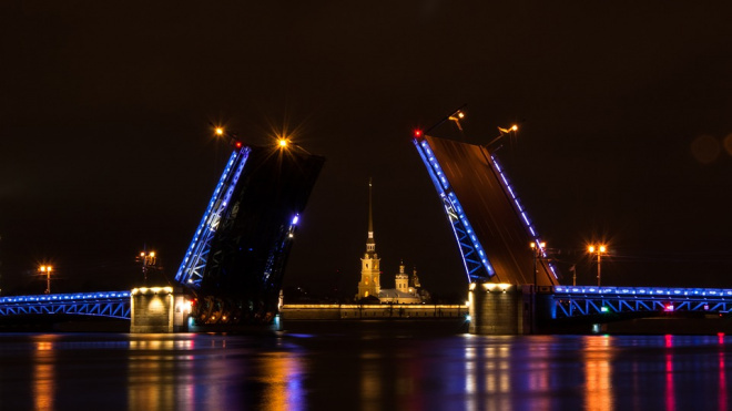 Сезон разводных мостов в Петербурге закончится 30 ноября