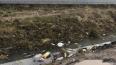Снег на Русановской мешает коммунальщикам убирать мусор