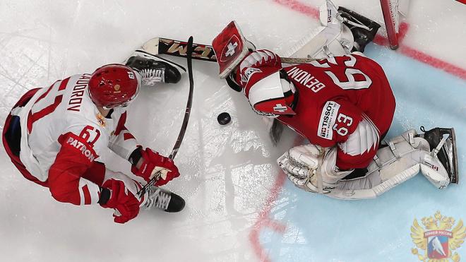 Сборная России по хоккею обыграла швейцарцев: подробности