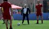 Путин и глава ФИФА сыграли в футбол в парке на Красной площади