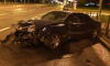 У Российского путепровода петербуржец сбежал с места аварии, оставив пострадавший автомобиль
