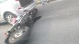 На Светлановском проспекте мотоциклист врезался в ...