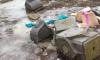 Таинственные надгробия нашли под снегом на пустыре Петроградки