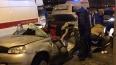 """В Петербурге """"Ладе"""" полностью снесло крышу после столкно..."""