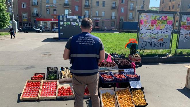 ККИ разобрался с незаконными торговыми точками в девяти районах Петербурга