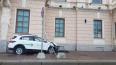 Каршеринговый автомобиль вылетел на тротуар на Дворцовой ...