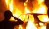 Из-за горящего автомобиля жители дома были подняты среди ночи