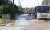 В Петербурге затопило проезжую часть кипятком