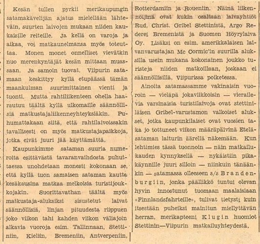 Порт города о заметном пассажирском движении Газета Karjala