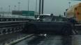 КАД в районе Таллинского перекрыли из-за серьезного ДТП
