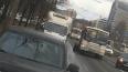 Маршрутка потеряла колесо на Коломяжском проспекте