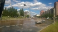 Прорыв трубы на Российском проспекте сорвал асфальт ...