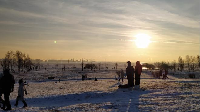 По льду в парке 300-летия Петербурге гуляли около 50 человек. Их разгоняли сотрудники МЧС