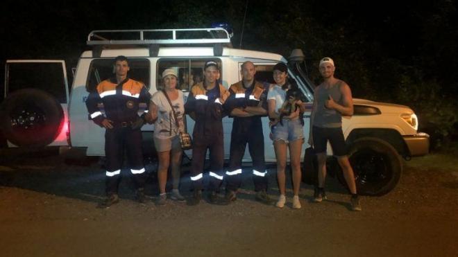 В Сочи спасли заблудившихся петербуржцев