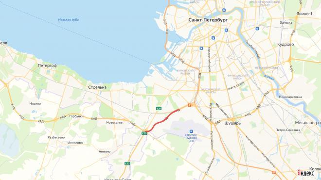 На КАД перекроют две полосы между развязками с ЗСД и Таллинским шоссе
