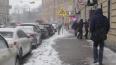 Последствия ночного снегопада в Петербурге убирали ...