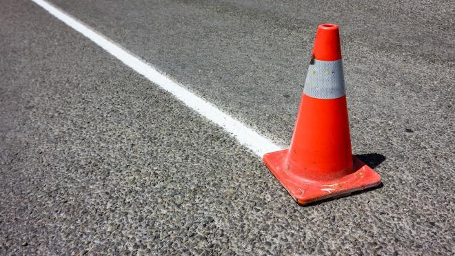 За полгода петербургские дорожники выполнили план по нанесению разметки более чем на 70%