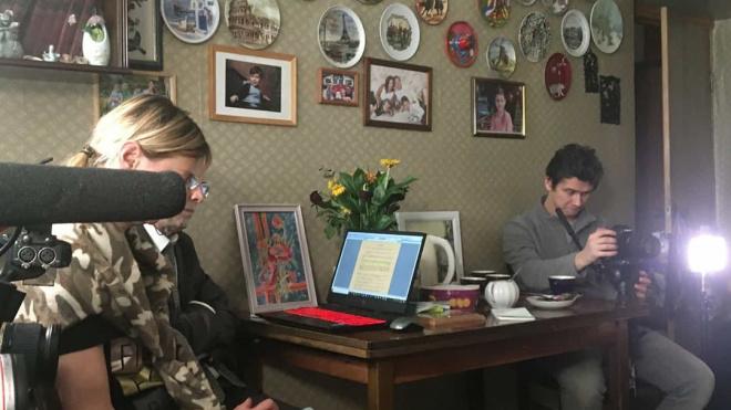 Общественники изФранции снимают в Петербурге фильм оветеранах Великой Отечественной войны
