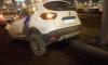 Каршеринг заскочил на поребрик на Пулковском шоссе