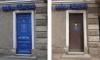 В центре Петербурга железную дверь превратили в историческую с помощью пленки