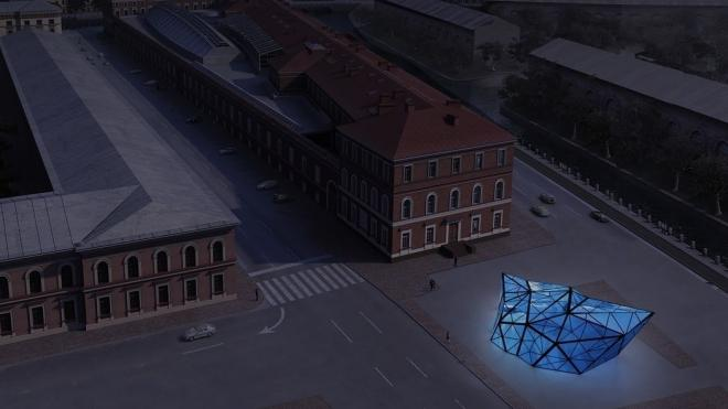 В центре Петербургапоявится огромный светящийся айсберг