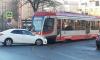 """""""Toyota"""" на Гаванской улице не пропустила встречный трамвай"""